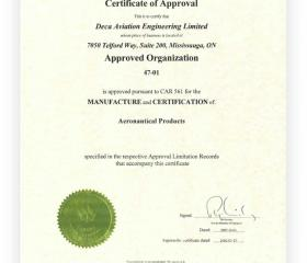 Certification of Aeronautical Products